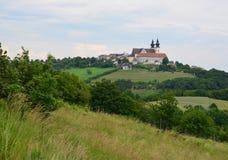 Iglesia en el pueblo de Maria Taferl, región de Wachau foto de archivo
