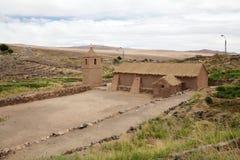 Iglesia en el pueblo de Socaire, Chile Fotos de archivo libres de regalías