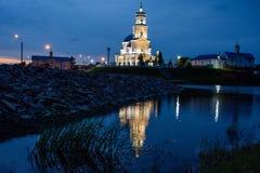 Iglesia en el pueblo de Telma Región de Irkutsk Foto de archivo libre de regalías