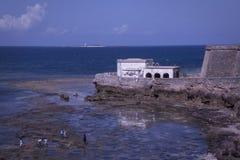 Iglesia en el puesto avanzado de la isla de Mozambique fotografía de archivo libre de regalías