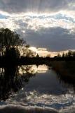 Iglesia en el río Fotos de archivo libres de regalías