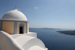 Iglesia en Fira (Grecia) foto de archivo libre de regalías