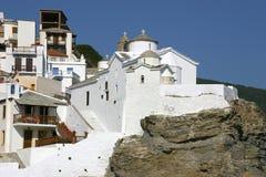 Iglesia en Grecia Foto de archivo libre de regalías