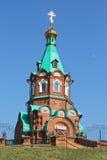 Iglesia en haces del sol Fotos de archivo libres de regalías
