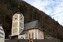 Iglesia en Hallstatt Foto de archivo libre de regalías