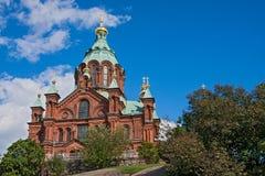 Iglesia en Helsinki Imágenes de archivo libres de regalías