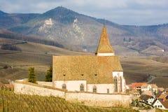 Iglesia en Hunawihr Fotografía de archivo