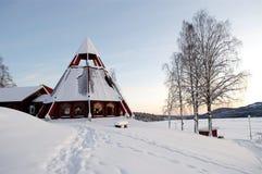 Iglesia en invierno Imagen de archivo