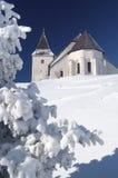 Iglesia en invierno Fotografía de archivo