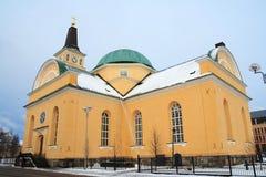 Iglesia en invierno Foto de archivo libre de regalías