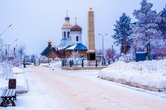 Iglesia en invierno Imágenes de archivo libres de regalías