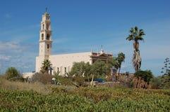 Iglesia en Jaffo imagenes de archivo
