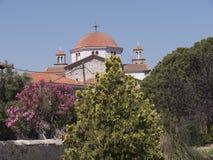 Iglesia en Kalloni Lesvos Grecia Fotos de archivo