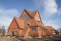 Iglesia en Kiruna Fotografía de archivo libre de regalías