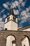 Iglesia en Kobarid Foto de archivo libre de regalías