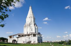 Iglesia en Kolomenskoe Foto de archivo libre de regalías