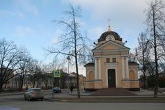 Iglesia en Kronstadt, Rusia en día nublado del invierno Imágenes de archivo libres de regalías
