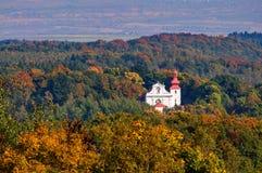 Iglesia en Kvetnov - peregrinaje Foto de archivo
