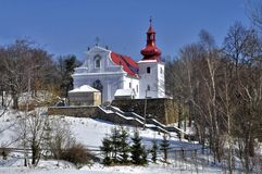 Iglesia en Kvetnov - peregrinaje Foto de archivo libre de regalías