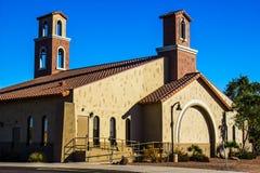 Iglesia en la última hora de la tarde Sun Imagenes de archivo