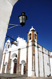 Iglesia en la aldea de Monsaraz Imagen de archivo