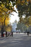 Iglesia en la ciudad de Krasnodar Foto de archivo