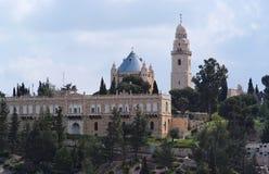 Iglesia en la ciudad vieja de Jerusalén Fotos de archivo libres de regalías