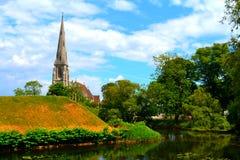 Iglesia en la ciudadela de Copenhague (Kastellet) imagen de archivo libre de regalías