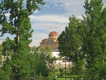 Iglesia en la distancia Fotos de archivo