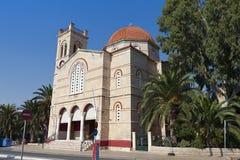 Iglesia en la isla de Aegina en Grecia Imagen de archivo libre de regalías