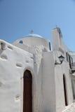 Iglesia en la isla de Paros foto de archivo