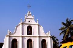 Iglesia en la isla de Vypin Imagen de archivo libre de regalías