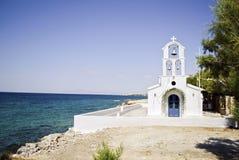 Iglesia en la isla Grecia de Aegina Imagen de archivo libre de regalías