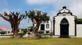Iglesia en la isla Pico, Azores Foto de archivo libre de regalías