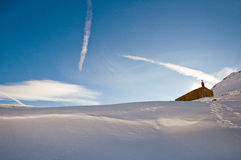 Iglesia en la nieve Imágenes de archivo libres de regalías