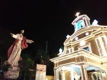 Iglesia en la noche 2 foto de archivo libre de regalías