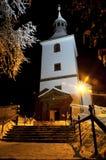 Iglesia en la noche Fotos de archivo libres de regalías