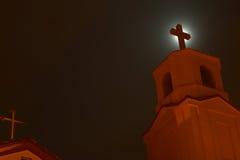 Iglesia en la noche Foto de archivo libre de regalías
