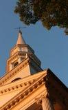 Iglesia en la puesta del sol Fotos de archivo libres de regalías