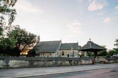 Iglesia en la puesta del sol Foto de archivo