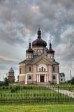 Iglesia en la región de Zapytov Lviv de la aldea Fotografía de archivo libre de regalías