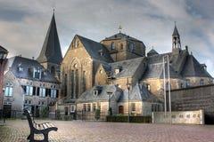 Iglesia en la visión en Denekamp - Overijssel, los Países Bajos Imagen de archivo