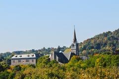 Iglesia en las colinas Fotografía de archivo