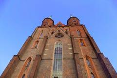 Iglesia en Legnica Foto de archivo