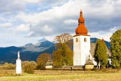 Iglesia en Liptovske Matiasovce Imagen de archivo