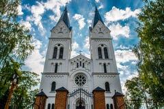 Iglesia en Lituania foto de archivo