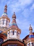 Iglesia en Lloret de Mrz Imagenes de archivo