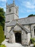 Iglesia en los argumentos del castillo de Lanhydrock Foto de archivo libre de regalías