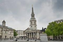 Iglesia en los campos, Londres de San Martín Imagen de archivo