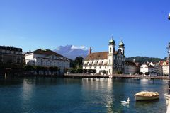 Iglesia en Lucerna Imagen de archivo libre de regalías